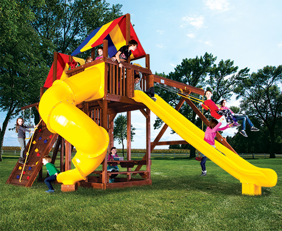 91O King Kong Clubhouse Base Pkg II with Dual Slides