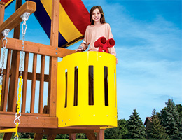 92 Crows Nest Rainbow Swing Set Accessories