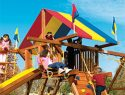 94 Castle Red Yellow Blue Canopy Rainbow Playset Canopy
