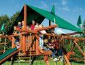 95 Castle Forest Green Canopy Rainbow Playset Canopy