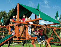 95 Castle Forest Green Canopy Rainbow Playset Canopy