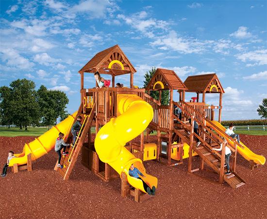 99F Rainbow Play Village Design Idea F Commercial Playground Equipment