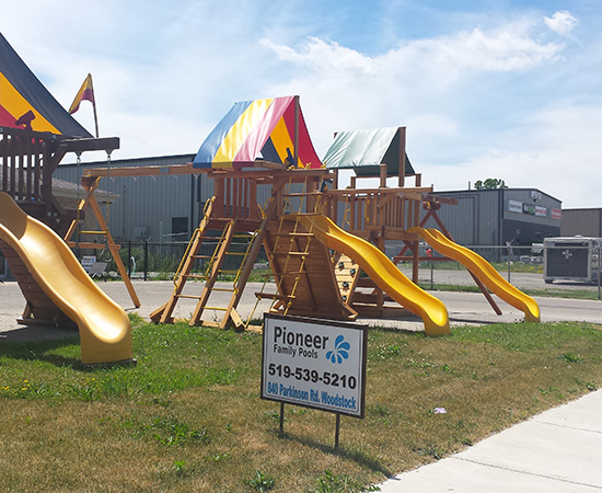 Rainbow Play Systems of Woodstock Ontario Canada Pioneer Family Pools