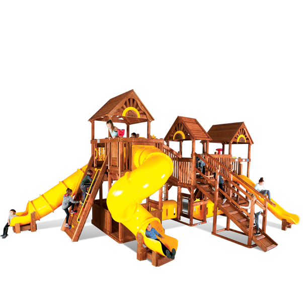 Rainbow Play Village commercial playground equipment