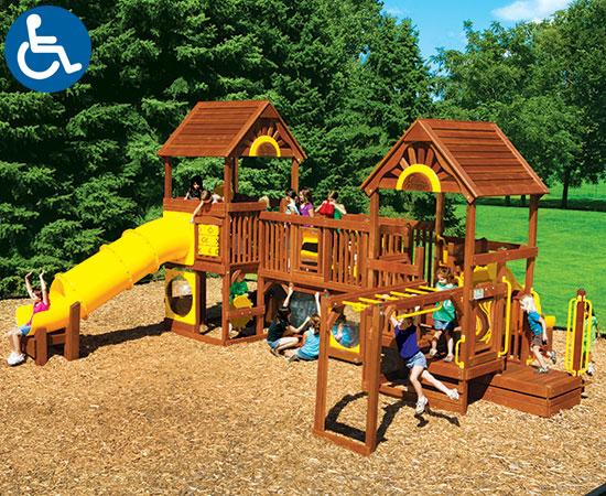 ADA Accessible Rainbow Play Village Design Idea B outside