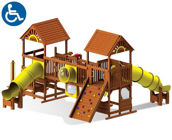 ADA Accessible Rainbow Play Village Design Idea B back view