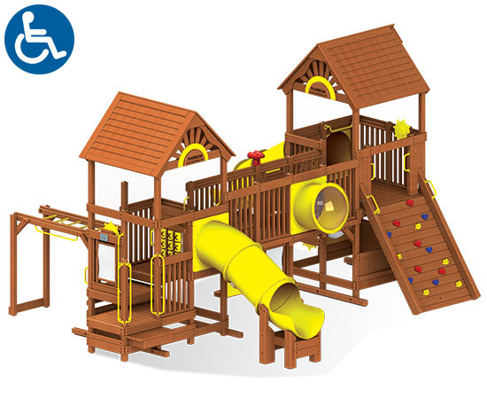 ADA Accessible Rainbow Play Village Design Idea B front view