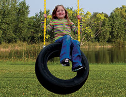 126 2 Chain Tire Swing