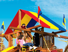 141 Red Yellow Blue Canopy Castle