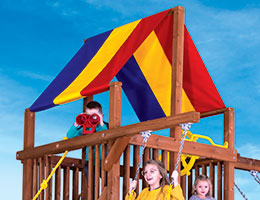 160 Red Yellow Blue Canopy Clubhouse