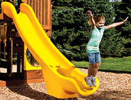 C53 Rainbow Play Village Commercial Slope Slide