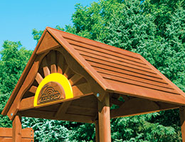 C57 Rainbow Play Village Commercial Wood Roof