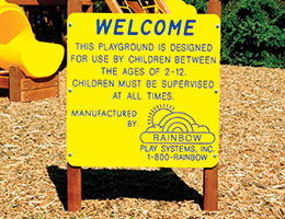 C58 Rainbow Play Village Customized Welcome Sign