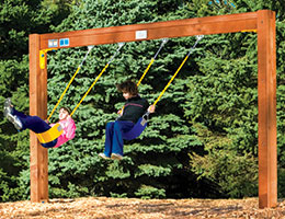 C60 Rainbow Play Village Commercial Swing Beam