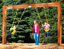 C61 Rainbow Play Village Commercial Toddler Swing Beam