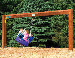 C62 Rainbow Play Village Commercial Tire Swing Beam