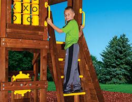 C63 Rainbow Play Village 48in DH Rung Ladder