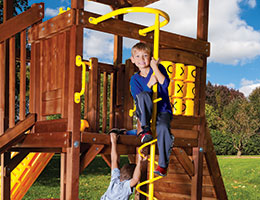 C66 Rainbow Play Village Corkscrew Climber