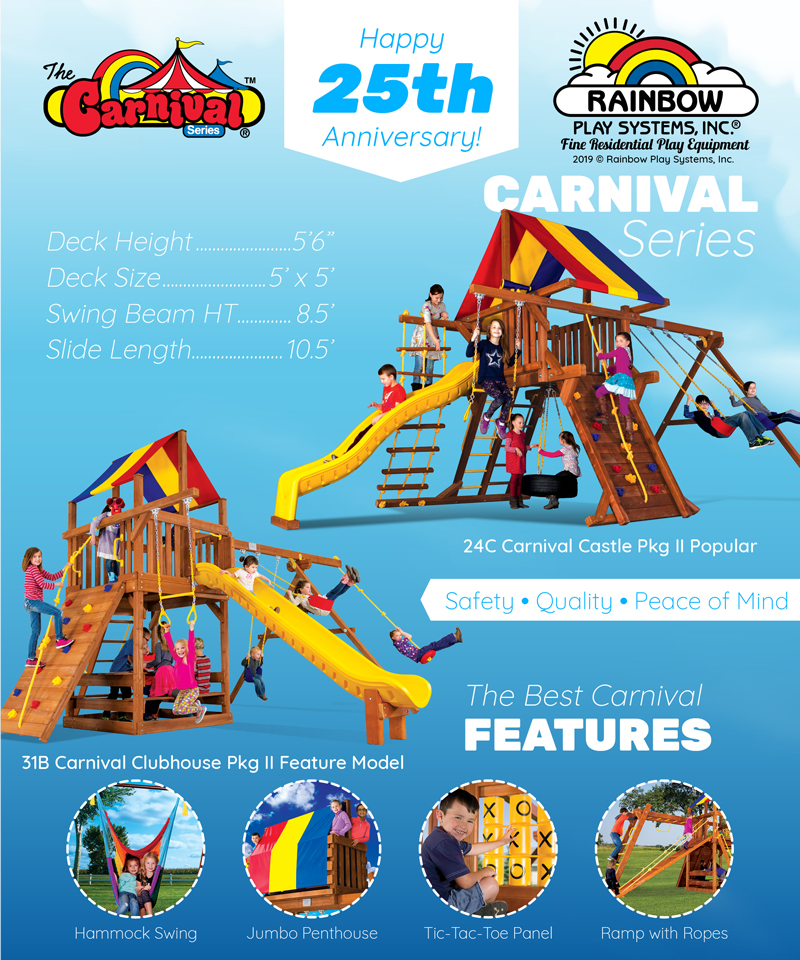 Carnival Series swing sets