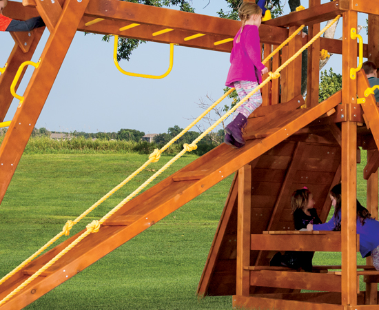 Wooden Playset with Ramp Option