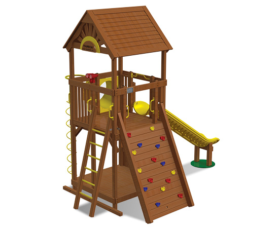 Rainbow Play Village Design 103 back view