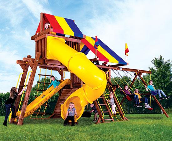 13H Sunshine Castle Pkg V with 270 Spiral Slide