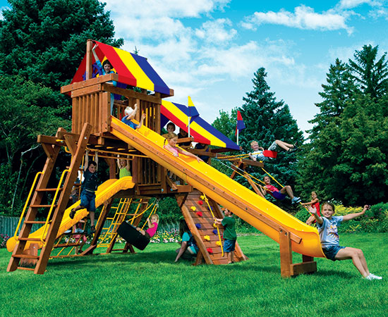 19H Rainbow Castle Pkg V with 15ft Scoop
