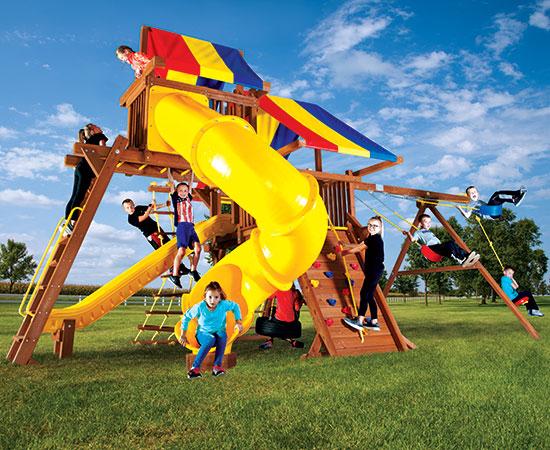 19G Rainbow Castle Pkg V with 270 Spiral Slide