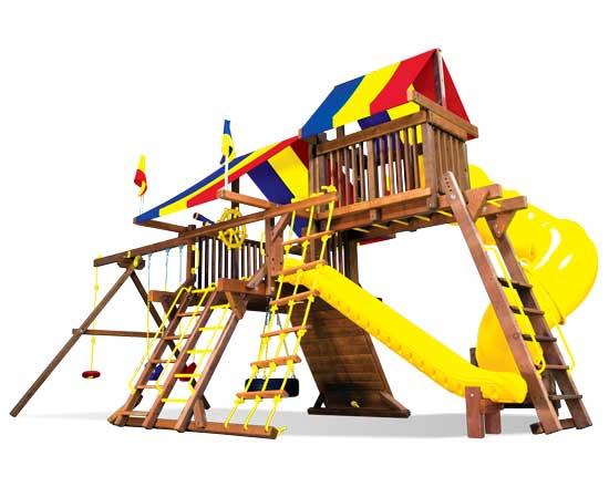 19J Rainbow Castle Pkg V with 360 Spiral Slide