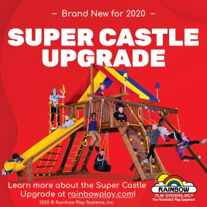 Super Castle Upgrade Rainbow swing sets