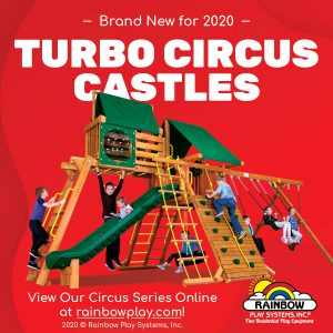 Turbo Circus Castle Rainbow swing sets