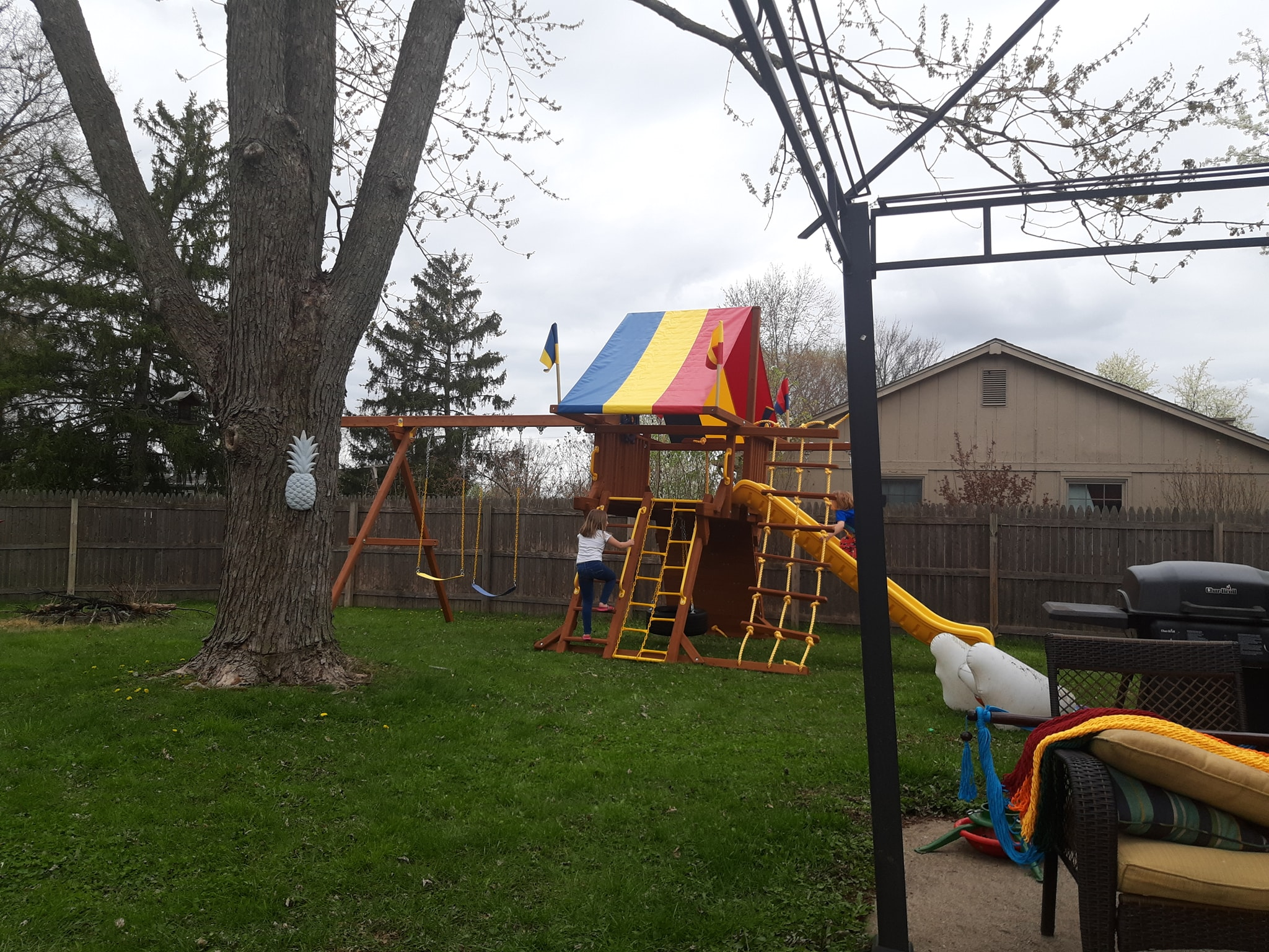 Ace Game Room Gallery - Rainbow Play Systems Swing Set