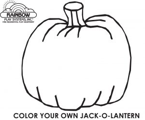 Rainbow Pumpkin Coloring