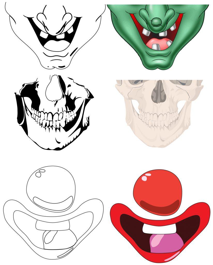 Halloween Face Mask Designs for Children