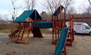 skillful home recreation swing set installation